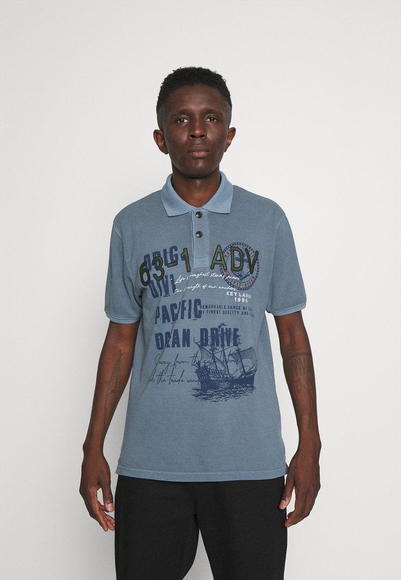 Key Largo - AGENCY - Polo shirt - flintstone blue