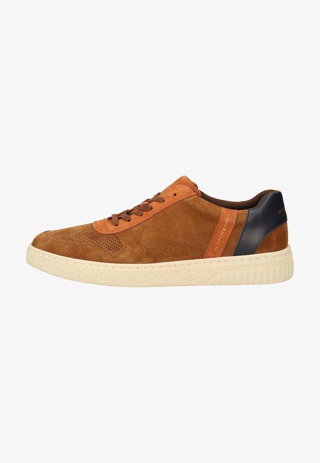 Sneakers laag - cognac multi