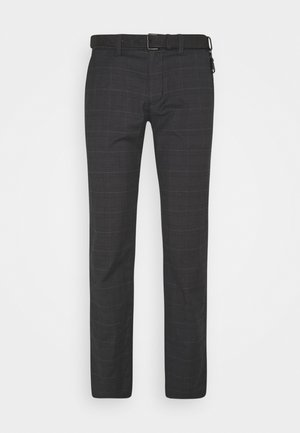 STRUCTURED STRAIGHT  - Chinosy - grey/brown