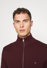 Tommy Hilfiger - CHUNKY ZIP THROUGH - Cardigan - red - 3