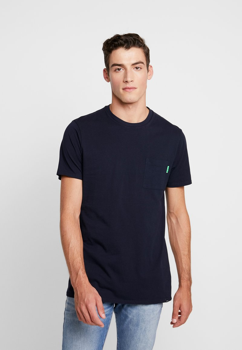 Scotch & Soda - CLASSIC POCKET TEE - T-paita - navy