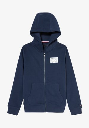 REFLECTIVE GRAPHIC FULL ZIP - veste en sweat zippée - blue