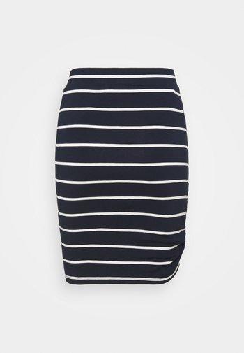 WORAZE - Pencil skirt - navy white