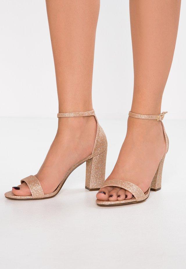 BEELLA - High heeled sandals - rose gold/multicolor