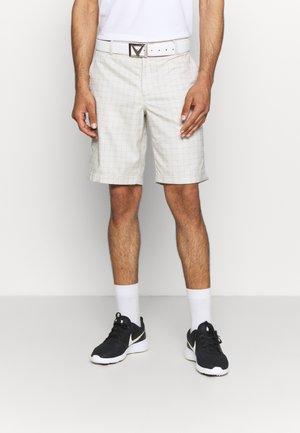 DRY FIT ESSENTIAL PLAID SHORT - Sports shorts - light bone/parachute beige