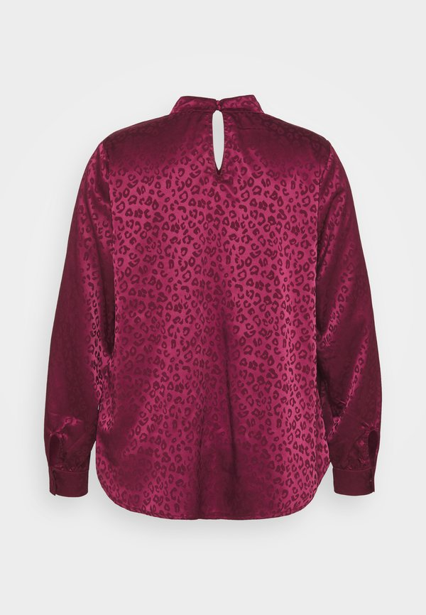 New Look Curves TWIST NECK - Bluzka - dark burgundy/bordowy KYVS