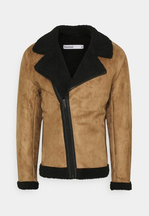 AVIATOR  - Faux leather jacket - tan