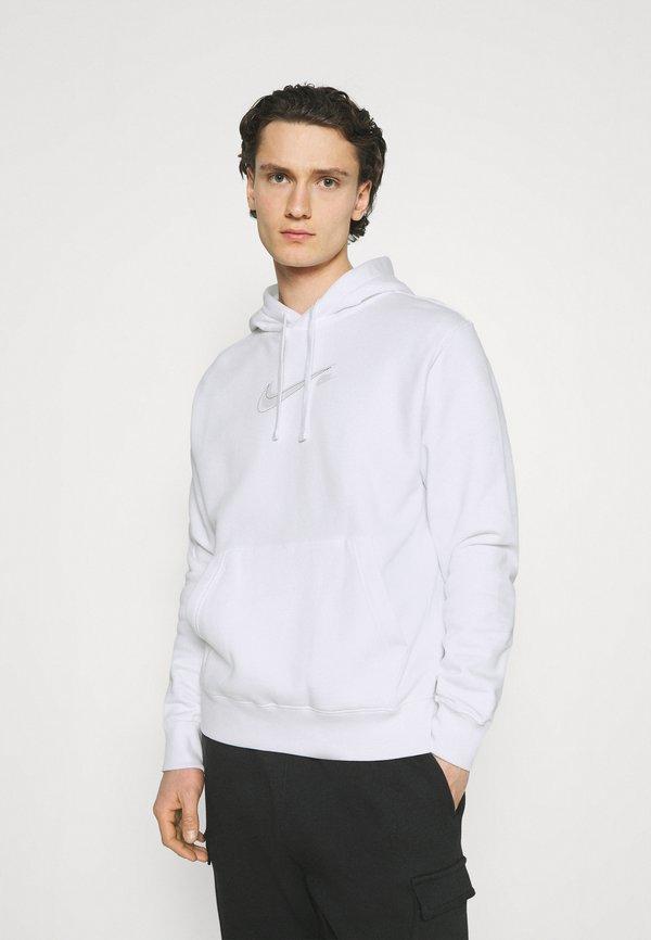Nike Sportswear COURT HOODIE - Bluza - white/biały Odzież Męska CPKB