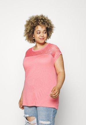 CARFLAKE LIFE MIX TOP  - Print T-shirt - strawberry pink
