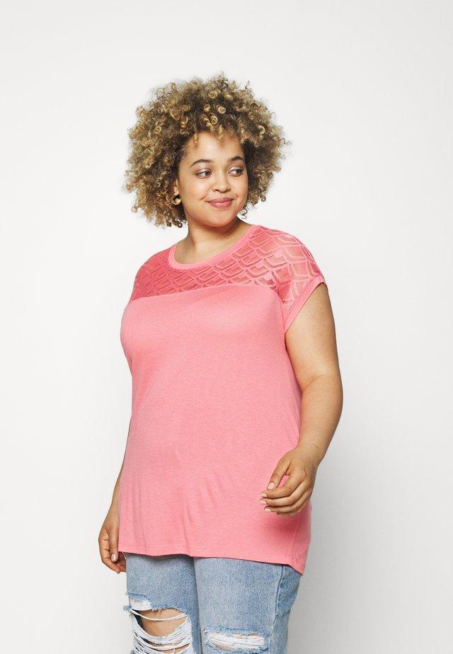 CARFLAKE LIFE MIX TOP  - T-shirt print - strawberry pink