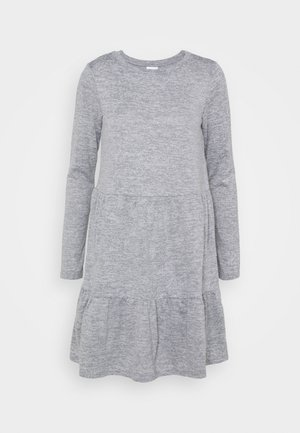 VIGISELLA O-NECK DRESS - Jumper dress - medium grey melange