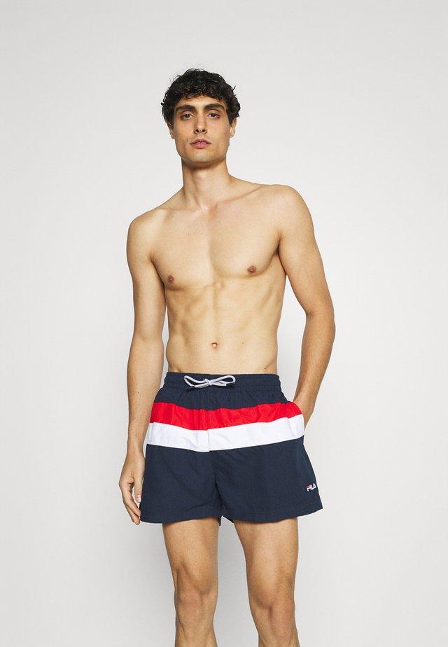 FILIPPO BLOCKED SWIM - Shorts da mare - black iris/true red/bright white