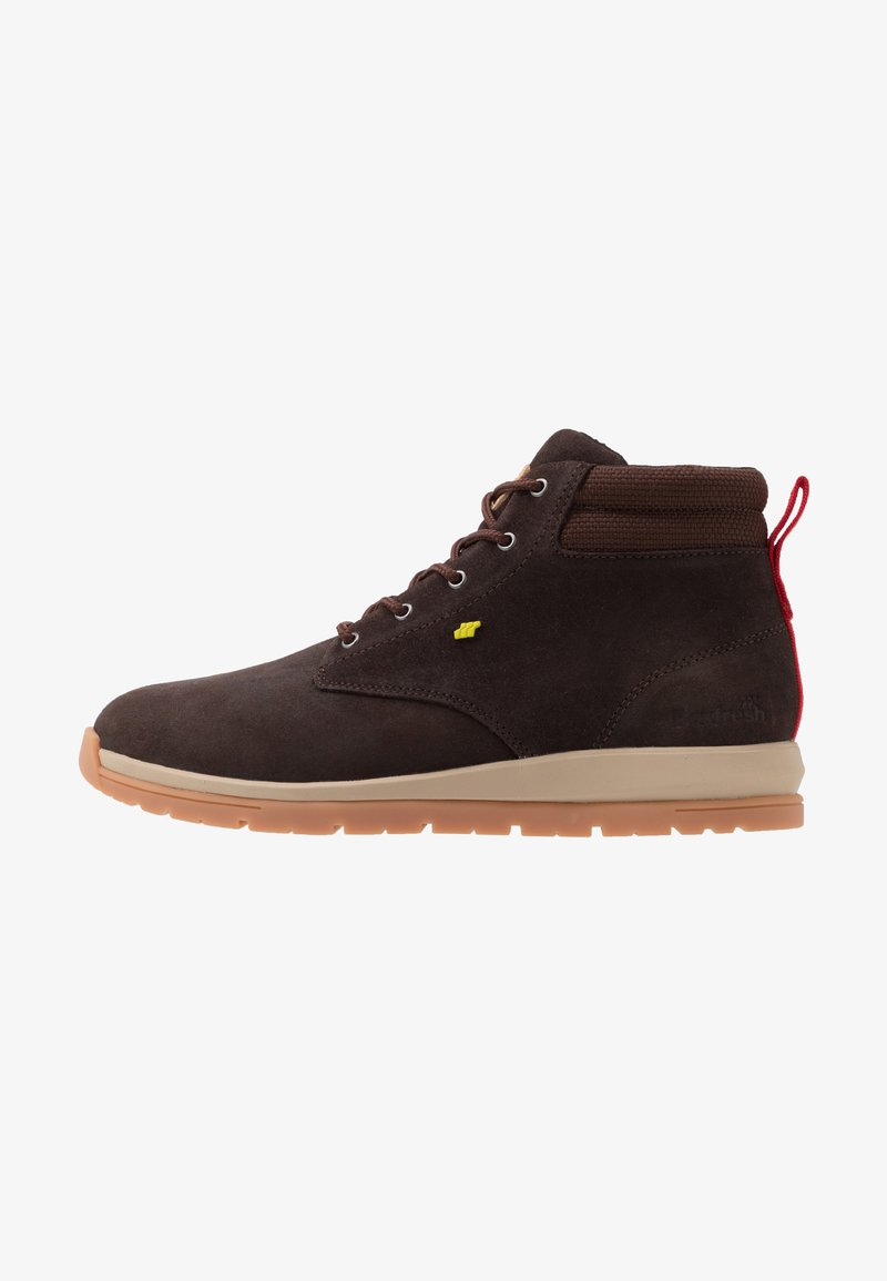 Boxfresh - BROWNDALE - Lace-up ankle boots - toffee/lime