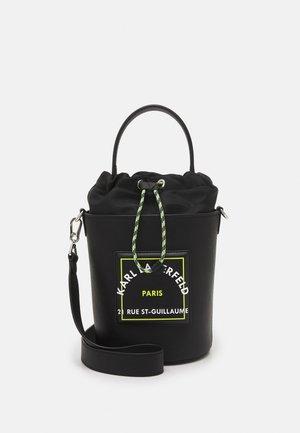 PATCH BUCKET - Handbag - black