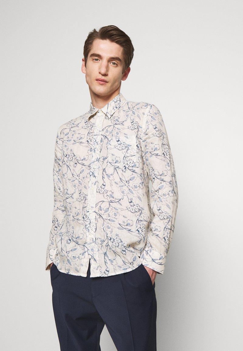 120% Lino - FLORAL PRINT - Shirt - ivory soft fade