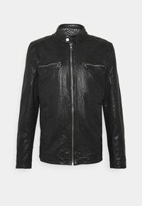 BREAK DAWN - Leather jacket - black