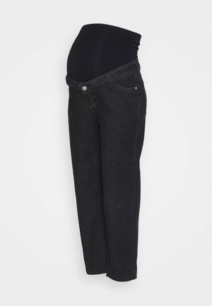 STRAIGHT LEG CROP - Straight leg -farkut - washed black