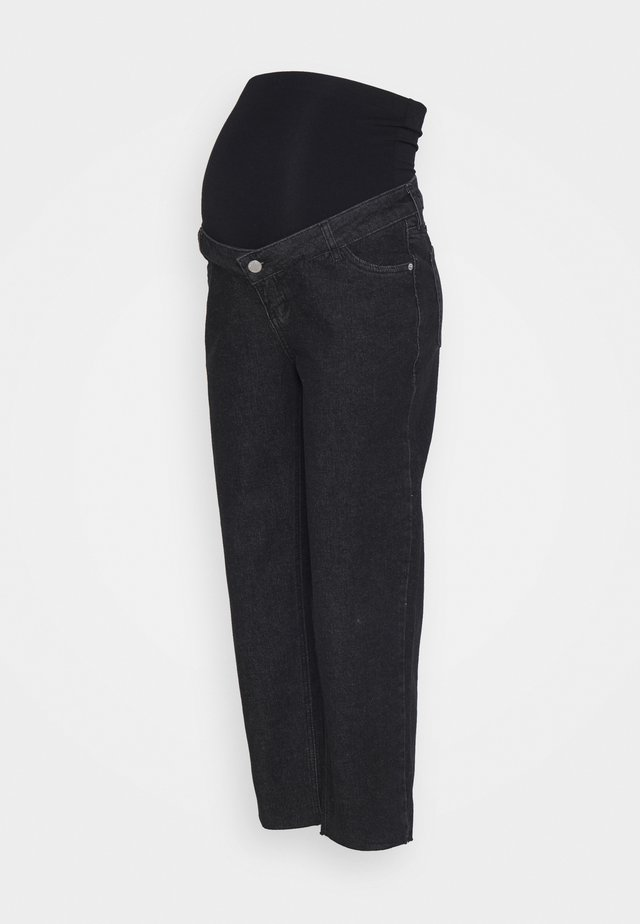 STRAIGHT LEG CROP - Jeans a sigaretta - washed black