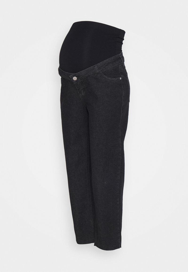 MAIAMAE - STRAIGHT LEG CROP - Straight leg -farkut - washed black