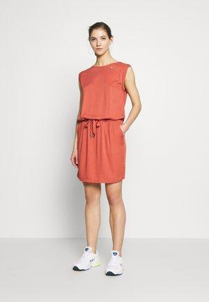 MASCARPONE - Jersey dress - terracotta