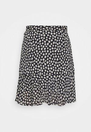 TIERED MINI SKIRT - Áčková sukně - dark blue