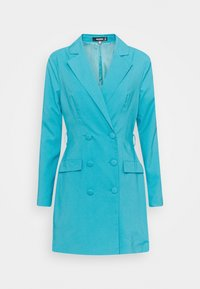 Missguided - BELT BLAZER DRESS - Vestido de cóctel - teal - 0