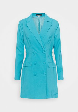 BELT BLAZER DRESS - Vestido de cóctel - teal