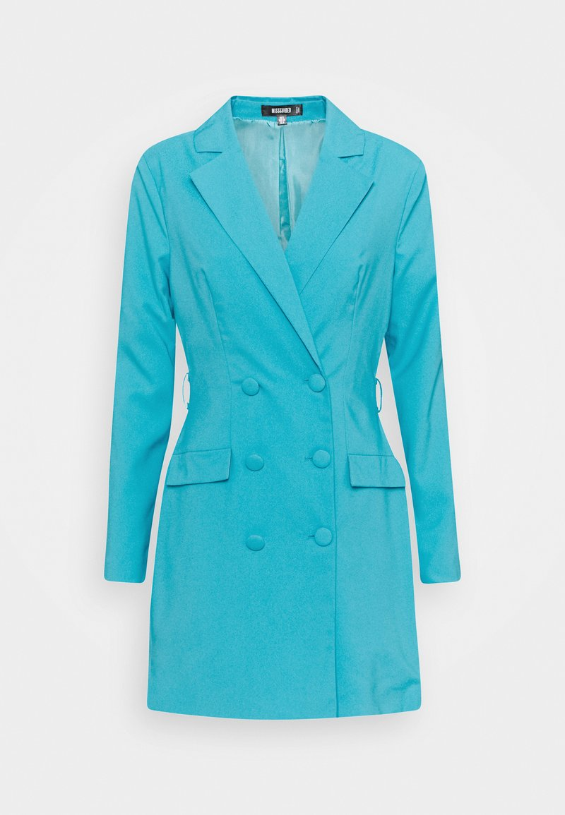 Missguided - BELT BLAZER DRESS - Vestido de cóctel - teal