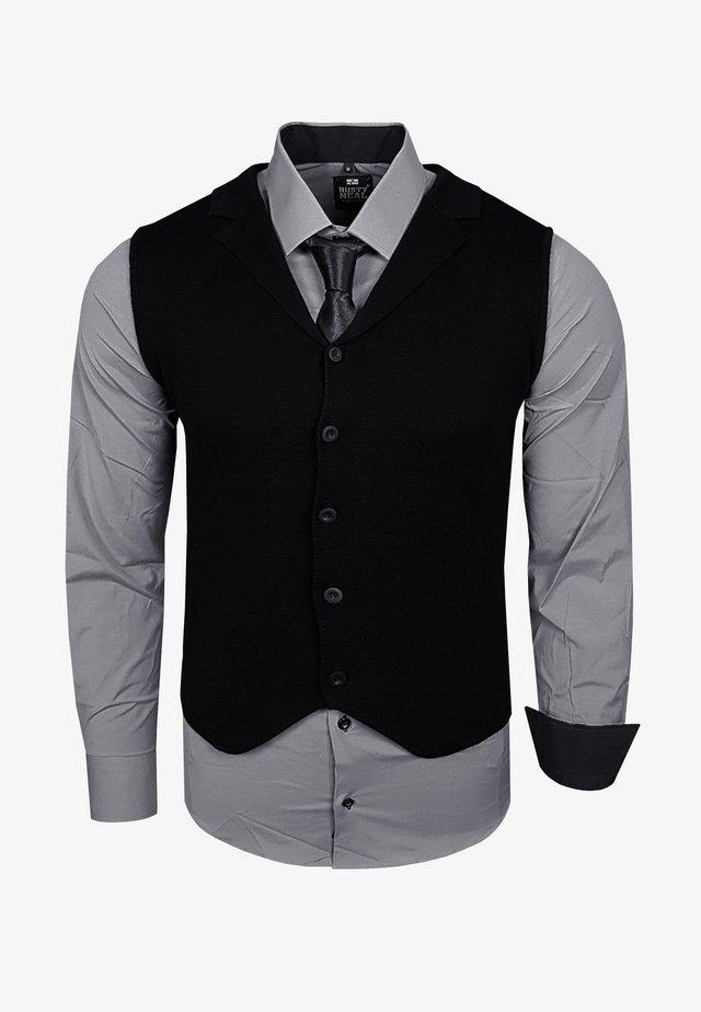 3 SET - Waistcoat - grau