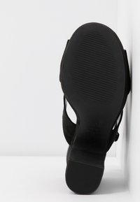 New Look Wide Fit - WIDE FIT ZARTY  - Sandály na vysokém podpatku - black - 6