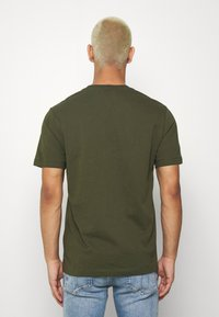 Calvin Klein - LOGO 2 PACK - T-shirts basic - olive/mottled light grey - 3