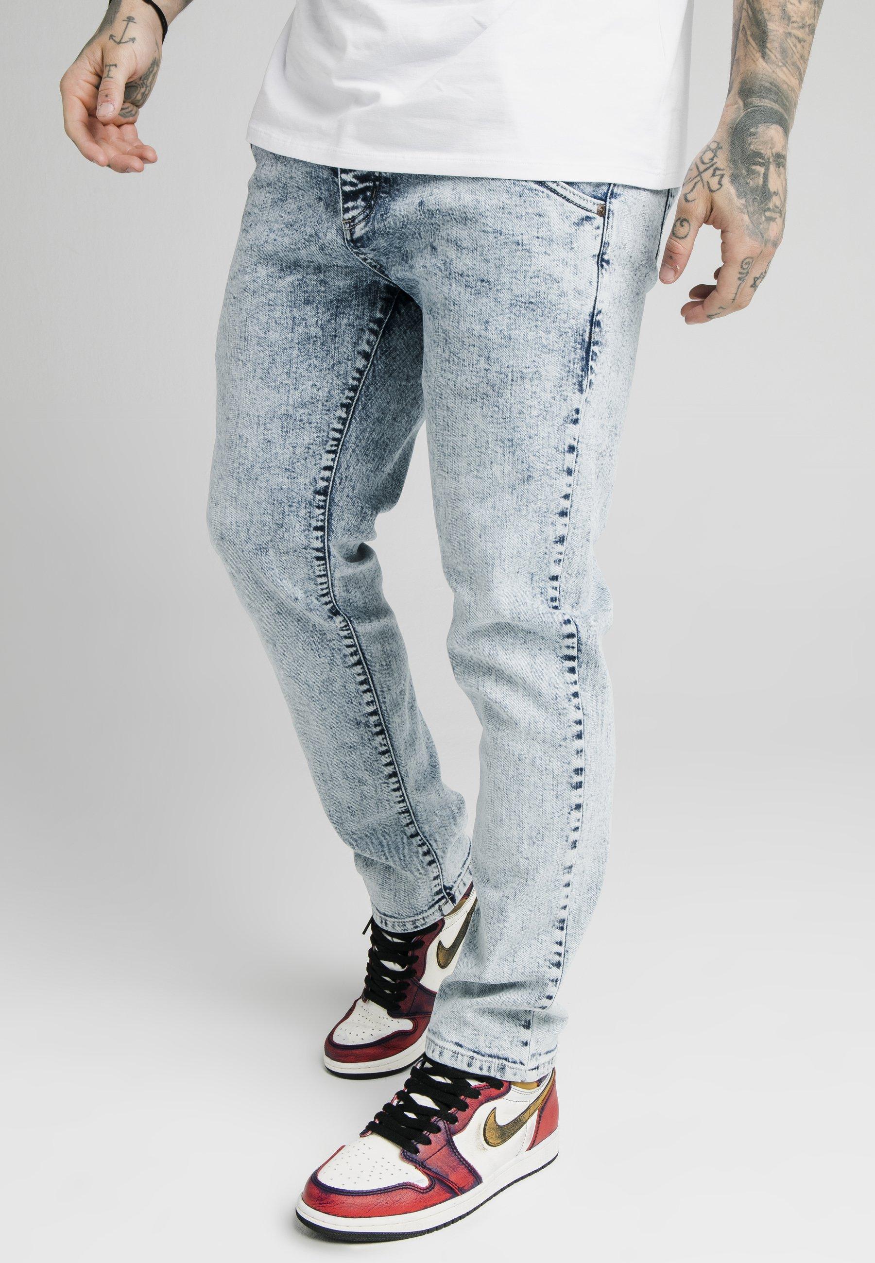 Les Collections Vêtements homme SIKSILK Jean slim light blue W4nFszJ6