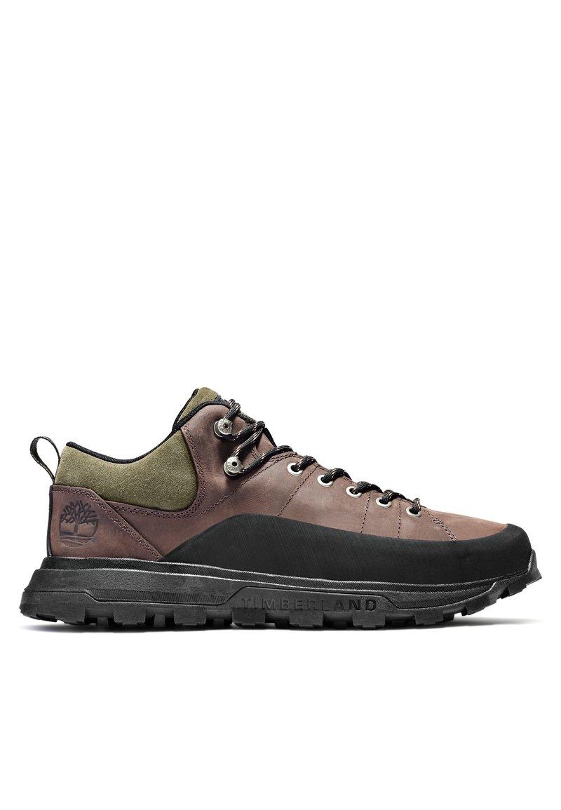 Timberland - TREELINE LOW - Chaussures à lacets - dark brown nubuck