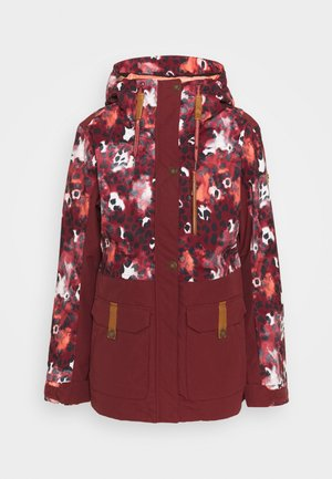 ANDIE - Snowboard jacket - oxblood/red leopold