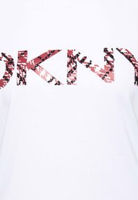 DKNY - PRINTED LOGO BEADED - Print T-shirt - white - 2