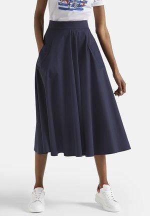 Pleated skirt - navy