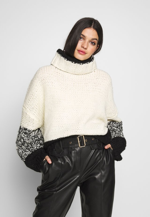 BACK HAND - Sweter - black/white