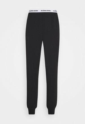 SOLID CLIFF CUFFED PANT - Nattøj bukser - black beauty