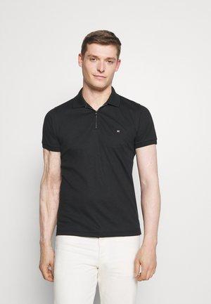 INTERLOCK ZIP SLIM  - Polo shirt - black