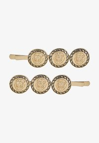 Topshop - COIN HAIR SLIDE 2 PACK - Hair Styling Accessory - gold-coloured - 3