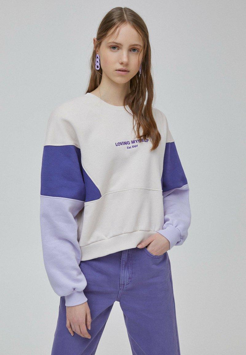 PULL&BEAR - Sweater - purple