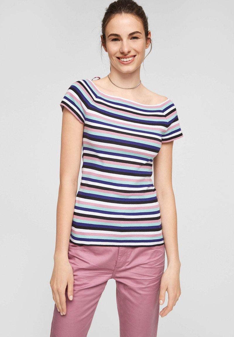 Q/S designed by - Print T-shirt - pink stripes
