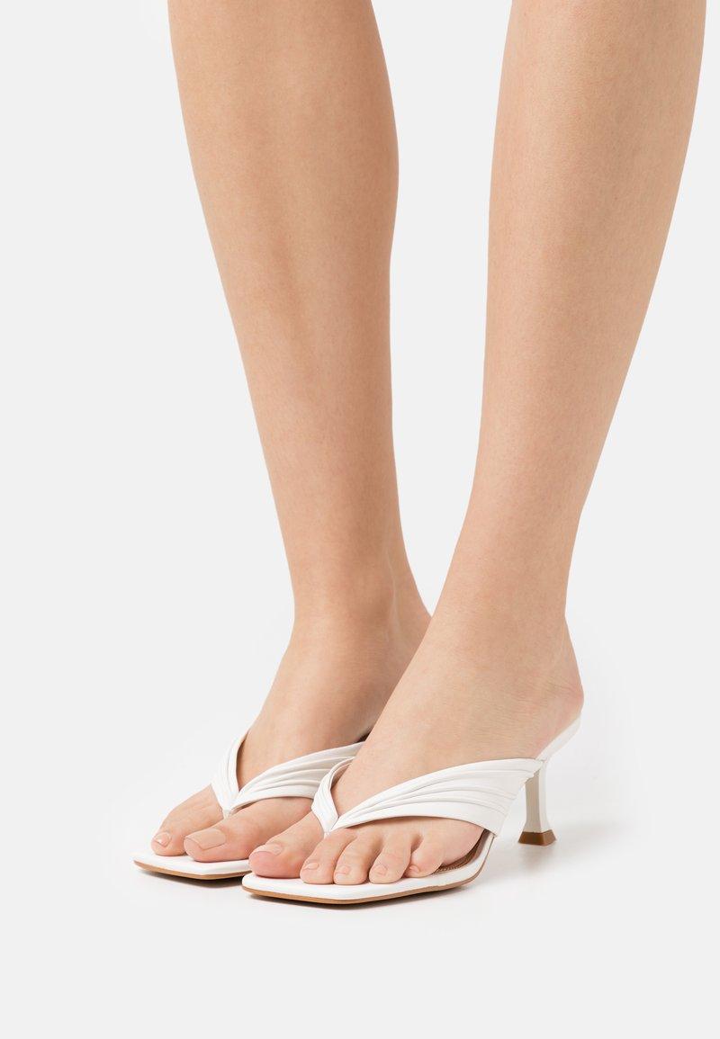 Dune London - MARBELLE - T-bar sandals - white