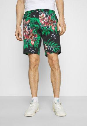 HARLEM ACTIVE PRINTED FLORAL - Shorts - black