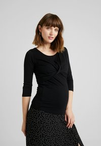 Esprit Maternity - NURSING - Topper langermet - black - 0