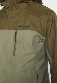 Columbia - POURING ADVENTURE JACKET - Hardshell jacket - stone green/new olive - 4