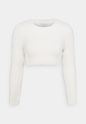 FLUFFY CROP - Jumper - ivory