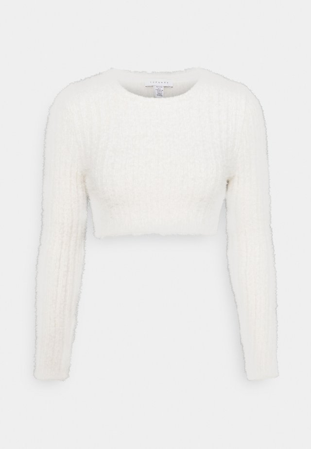FLUFFY CROP - Pullover - ivory