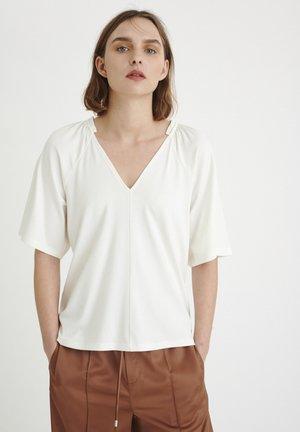 ABBEY  - Basic T-shirt - white smoke