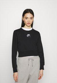 Nike Sportswear - AIR CREW  - Sweatshirt - black/white - 0